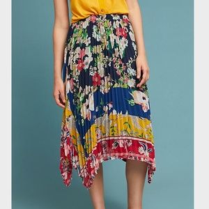 NWOT Anthropologie Leora Floral Skirt